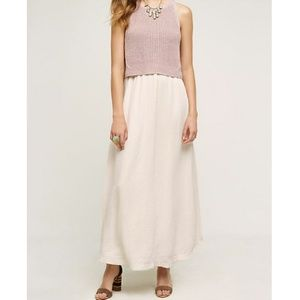 Moth Anthropologie Layered Sandstone Maxi Dress